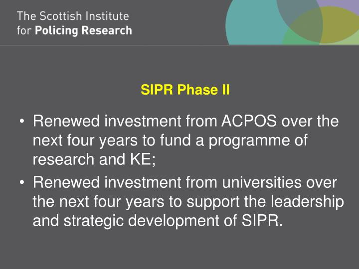 SIPR Phase II