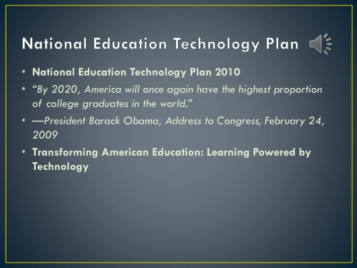National Education Technology Plan