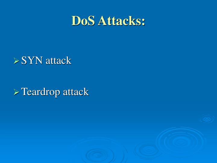 DoS Attacks: