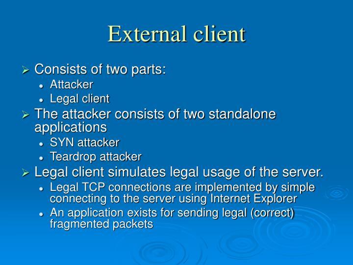 External client