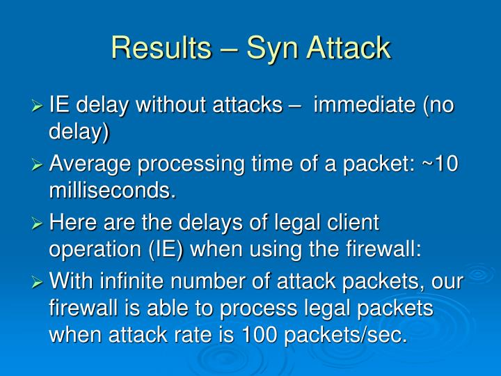 Results – Syn Attack
