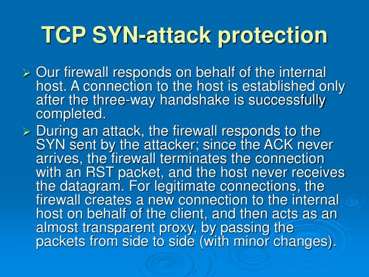 TCP SYN-attack protection