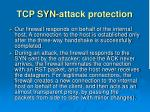 tcp syn attack protection