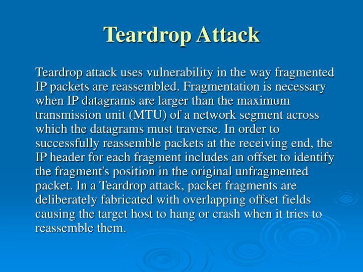 Teardrop Attack