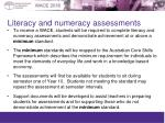 literacy and numeracy assessments