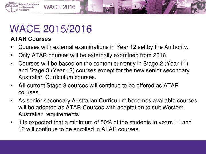 WACE 2015/2016