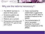 why are the reforms necessary