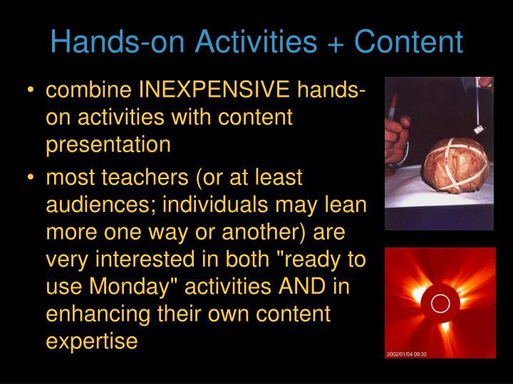 Hands-on Activities + Content