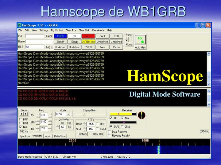 Hamscope de WB1GRB