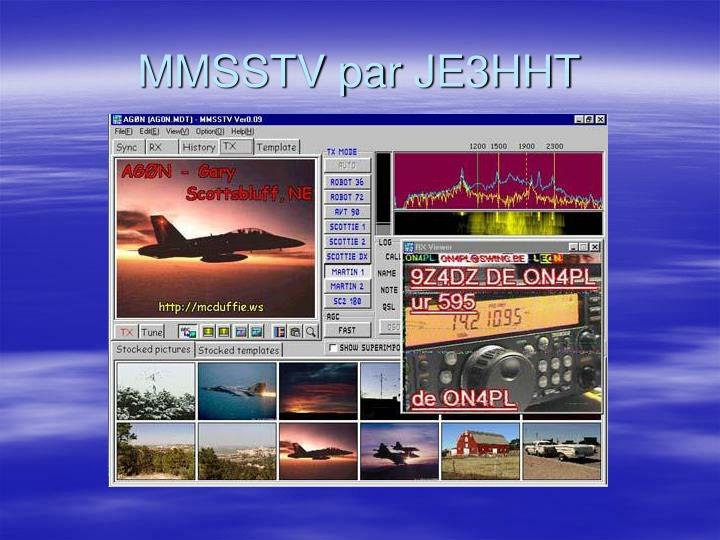 MMSSTV par JE3HHT