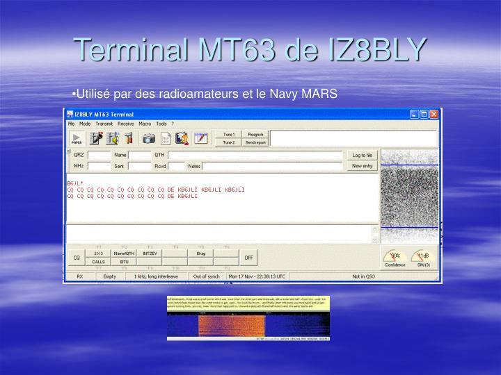 Terminal MT63 de IZ8BLY