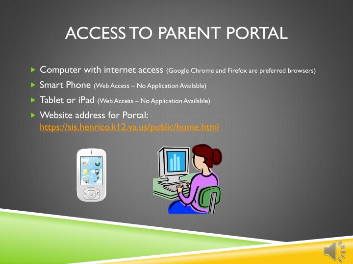 Access to Parent Portal