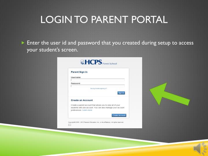 Login to parent portal