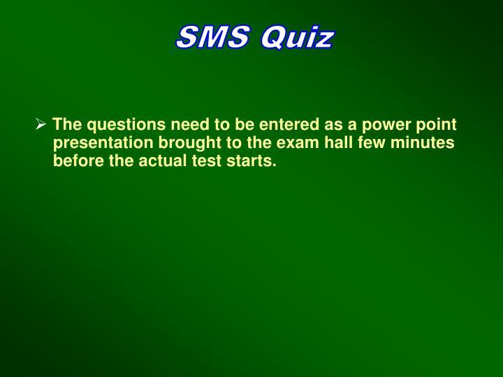 SMS Quiz