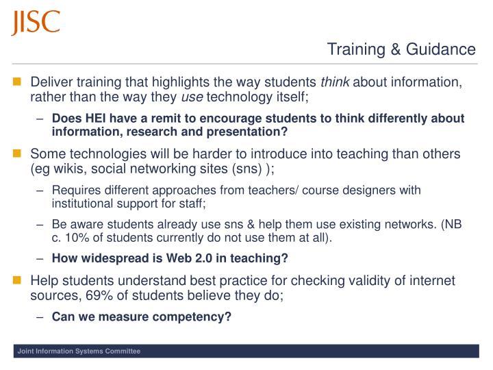 Training & Guidance