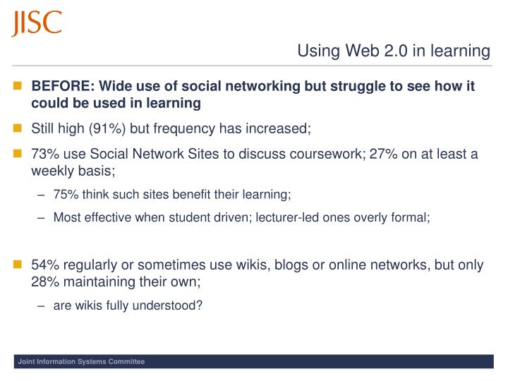 Using Web 2.0 in learning
