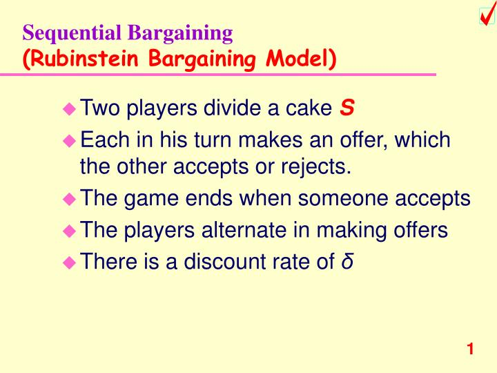 Sequential Bargaining