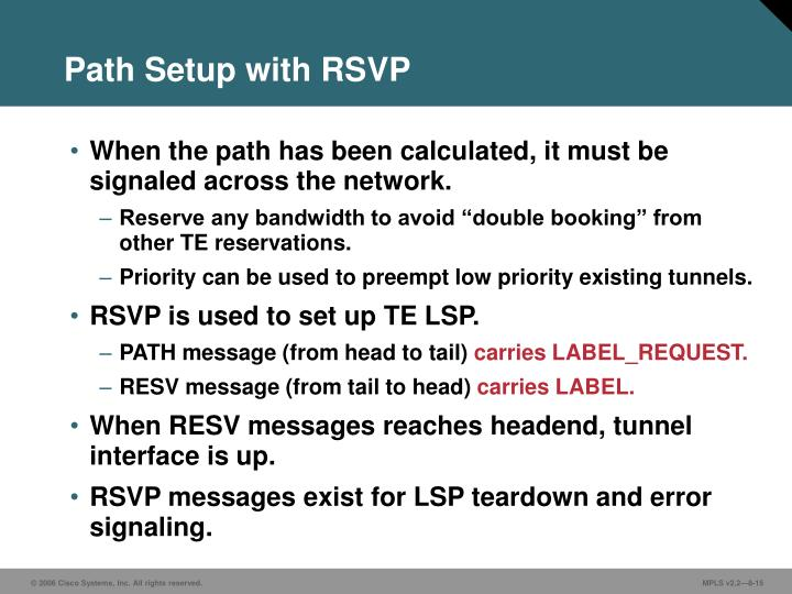 Path Setup with RSVP