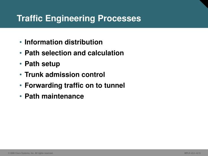 Traffic Engineering Processes