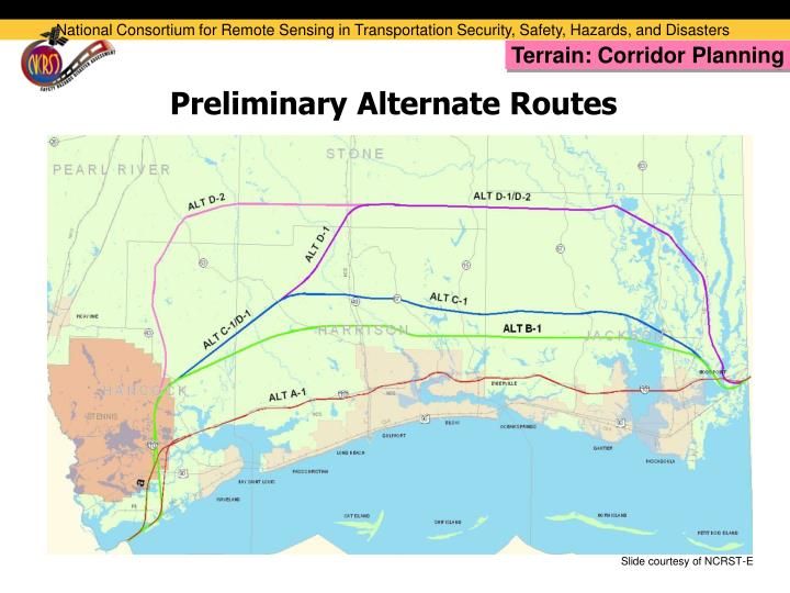 Preliminary Alternate Routes
