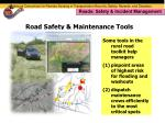 road safety maintenance tools