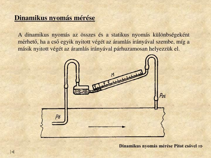 Dinamikus nyomás mérése