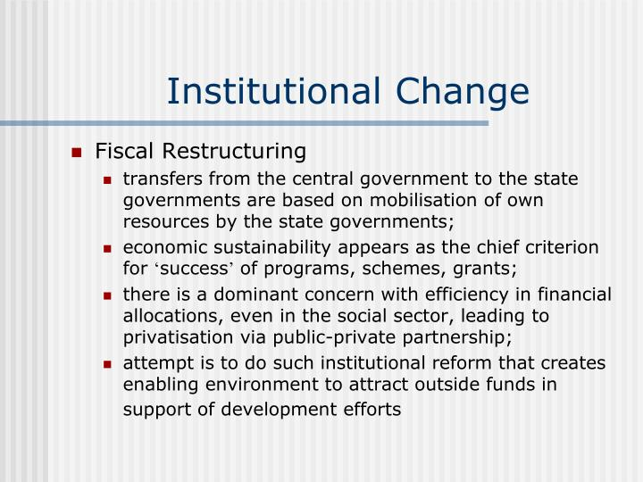 Institutional Change