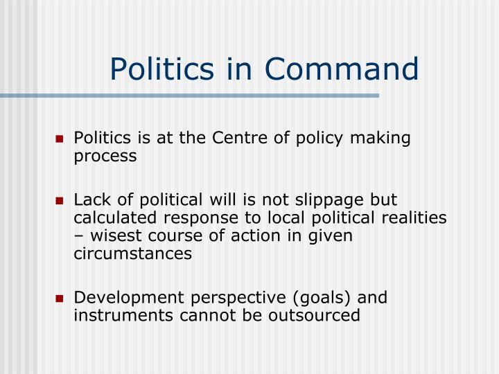 Politics in Command