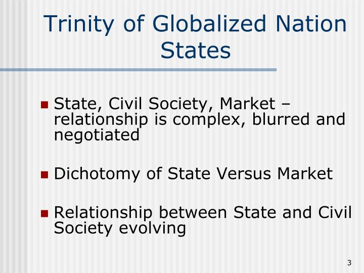 Trinity of globalized nation states