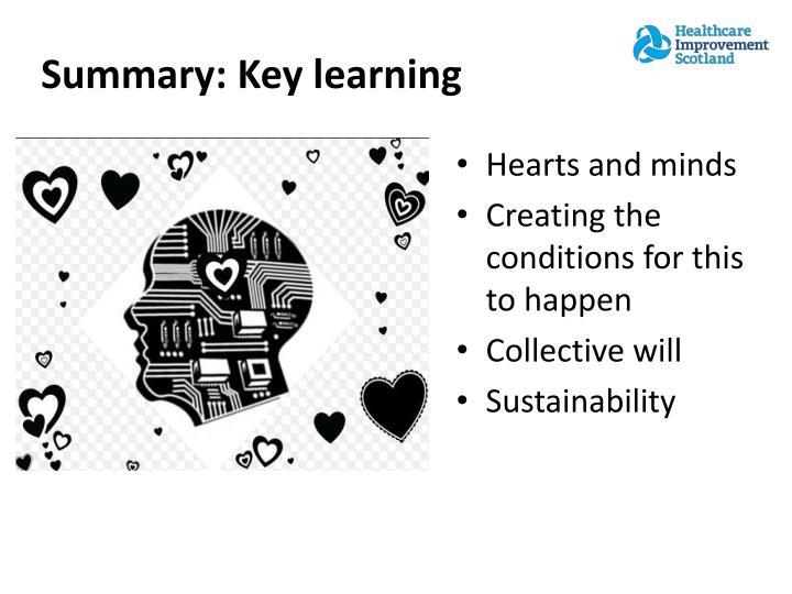 Summary: Key learning