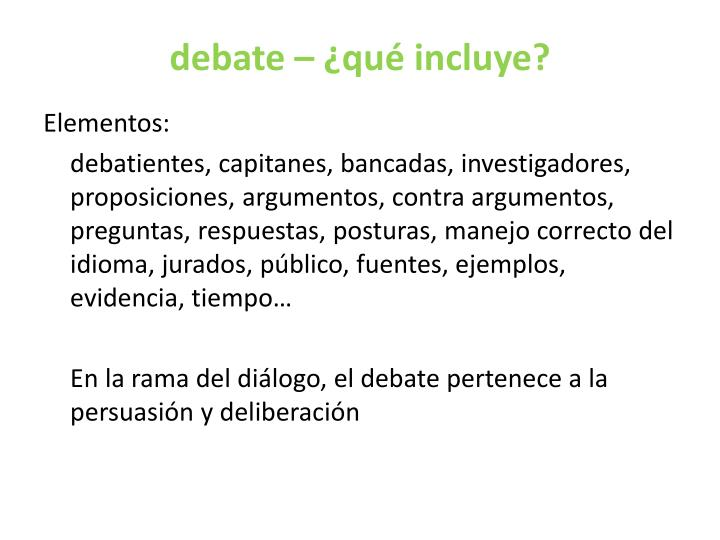 debate – ¿