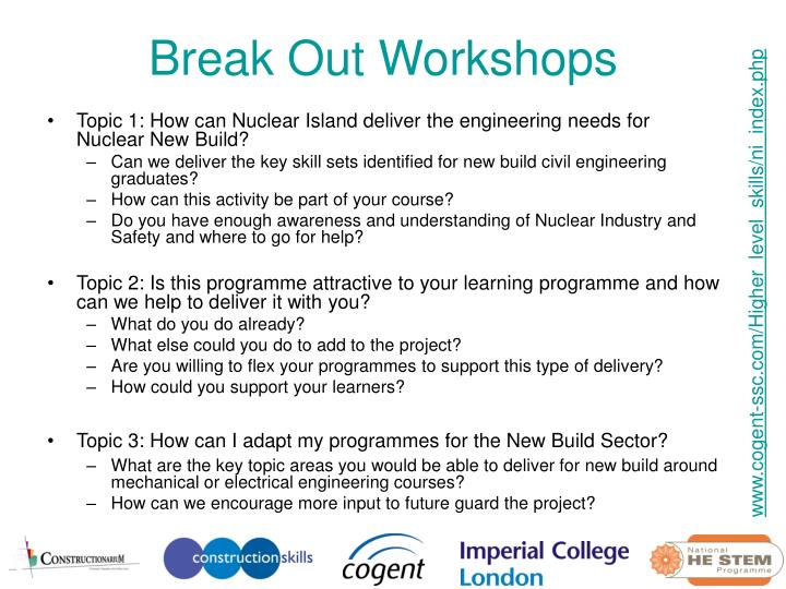 Break Out Workshops