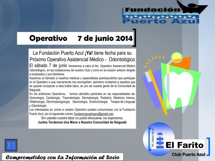 Operativo     7 de junio 2014