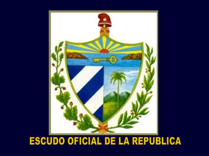 ESCUDO OFICIAL DE LA REPUBLICA