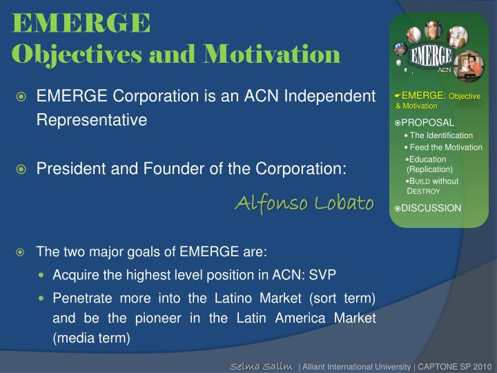 Emerge objectives and motivation