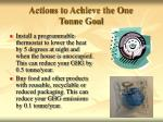 actions to achieve the one tonne goal4