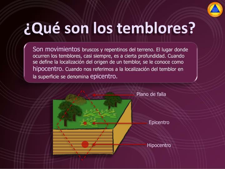 ¿Qué son los temblores?