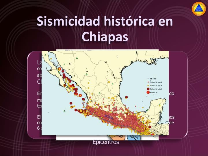 Sismicidad histórica en Chiapas