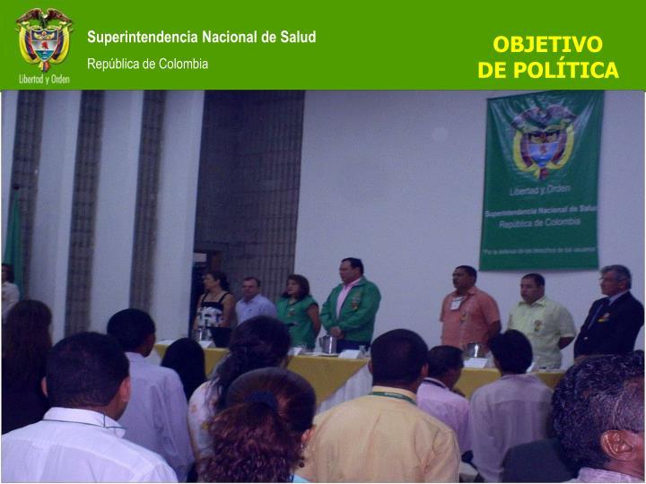OBJETIVO DE POLÍTICA