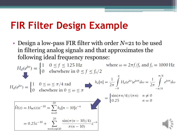 FIR Filter Design Example