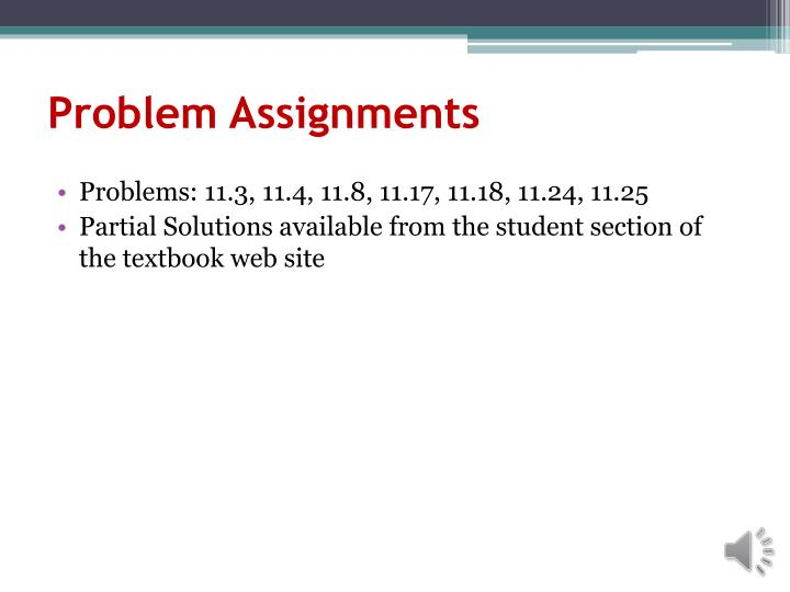 Problem Assignments