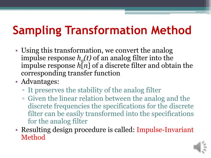 Sampling Transformation Method