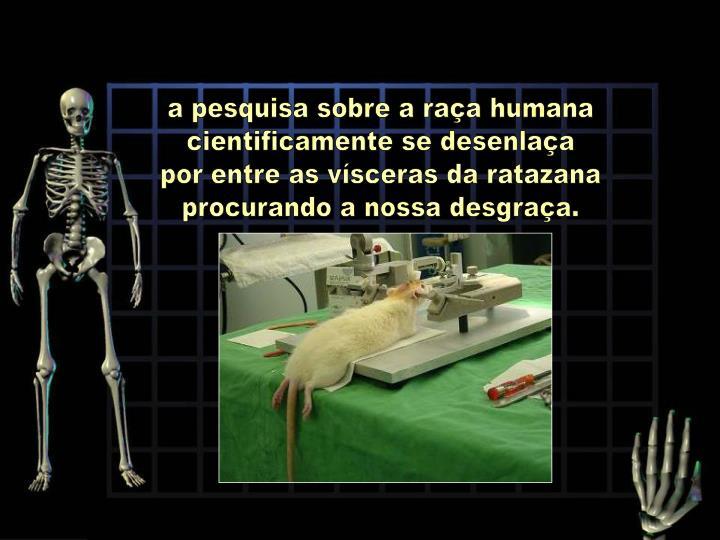 a pesquisa sobre a raça humana