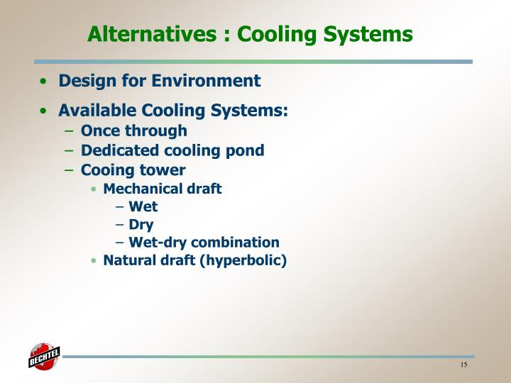 Alternatives : Cooling Systems