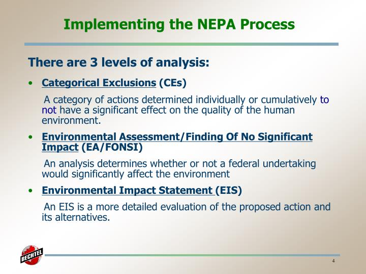 Implementing the NEPA Process