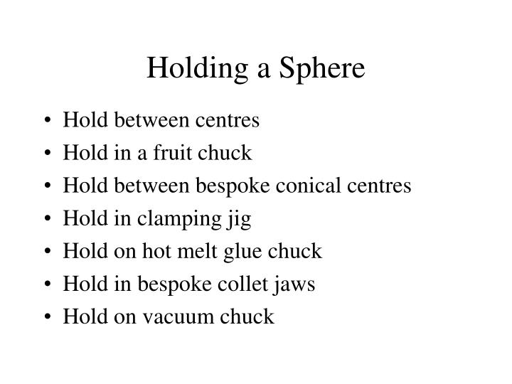 Holding a Sphere