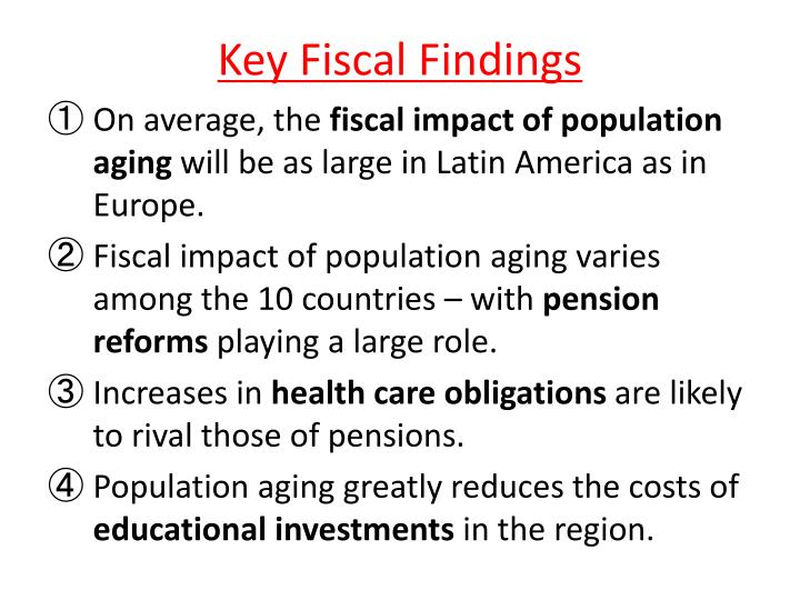 Key Fiscal Findings