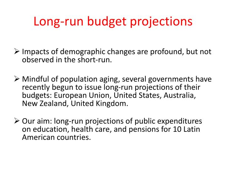 Long-run budget projections