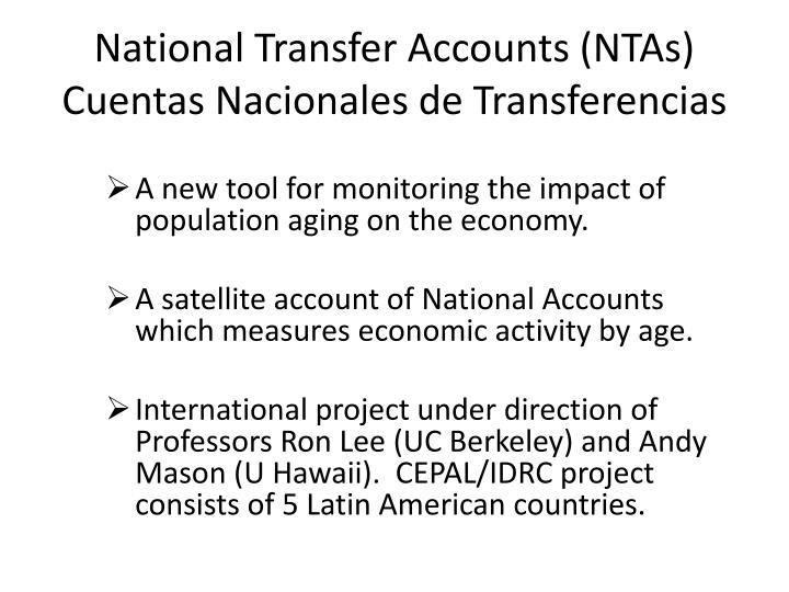 National Transfer Accounts (NTAs)
