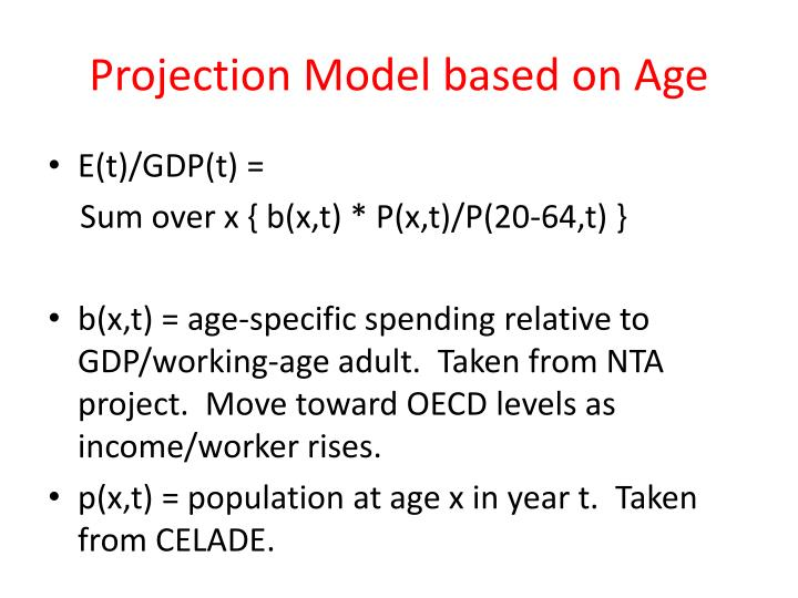 Projection Model based on Age